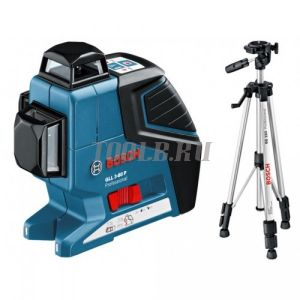 BOSCH GLL 3-80 P + BS 150 + вкладка под L-Boxx - лазерный нивелир