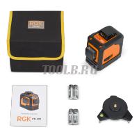 RGK PR-3M - Лазерный нивелир - купить в интернет-магазине www.toolb.ru цена, обзор, характеристики, фото, заказ, онлайн, производитель, официальный, сайт, поверка, отзывы